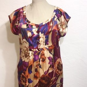 SILK Size:16 Pattern Dress